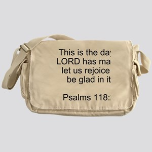 Psalms 118:24 Messenger Bag