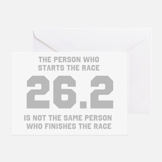 26.2 Marathon Saying Greeting Card