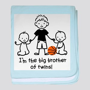 Big Brother of Twins - Stick Characters baby blank