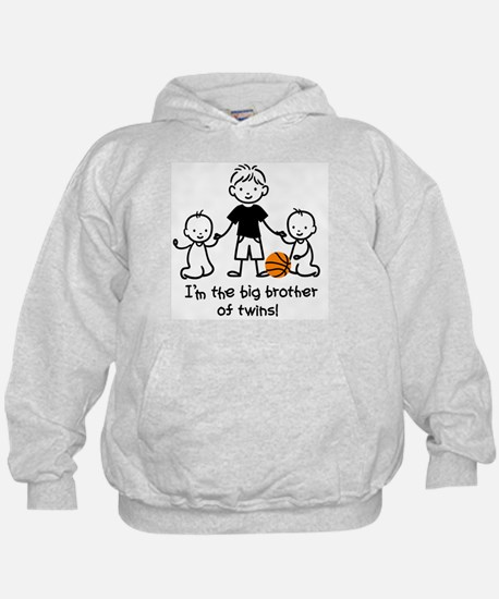 Big Brother of Twins - Stick Characters Hoodie
