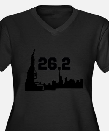 New York Marathon 26.2 Women's Plus Size V-Neck Da
