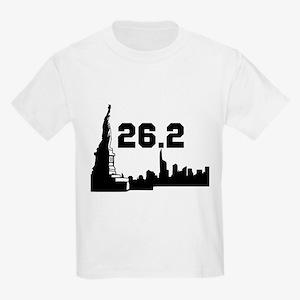 New York Marathon 26.2 Kids Light T-Shirt