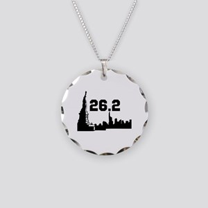New York Marathon 26.2 Necklace Circle Charm