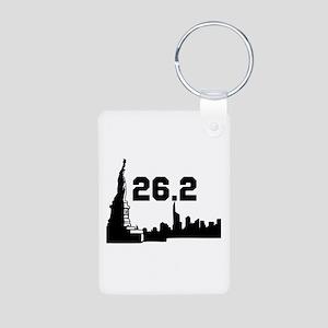 New York Marathon 26.2 Aluminum Photo Keychain