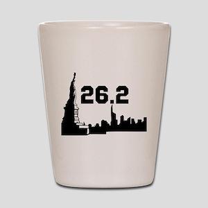 New York Marathon 26.2 Shot Glass