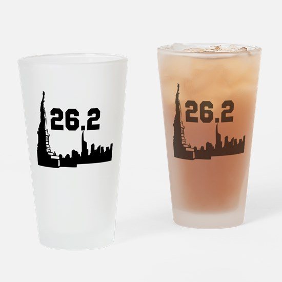 New York Marathon 26.2 Drinking Glass