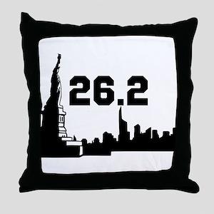 New York Marathon 26.2 Throw Pillow