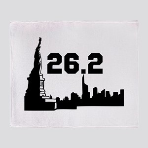 New York Marathon 26.2 Throw Blanket