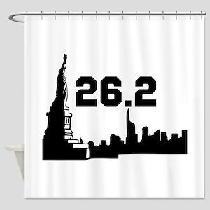 New York Marathon 26.2 Shower Curtain