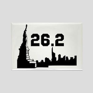 New York Marathon 26.2 Rectangle Magnet