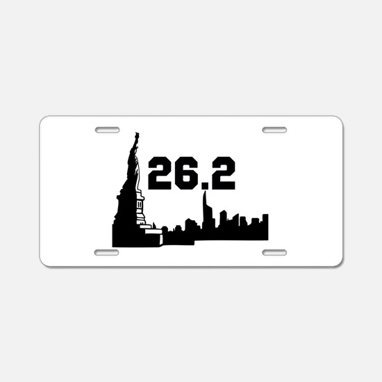 New York Marathon 26.2 Aluminum License Plate