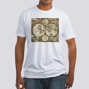 Vintage Map Fitted T-Shirt
