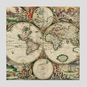 Vintage Map Tile Coaster