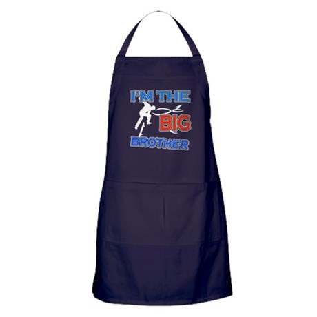 Cool Skateboard Big Brother Design Apron (dark)