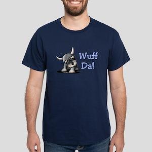 KiniArt Schnauzer Wuff Da! Dark T-Shirt