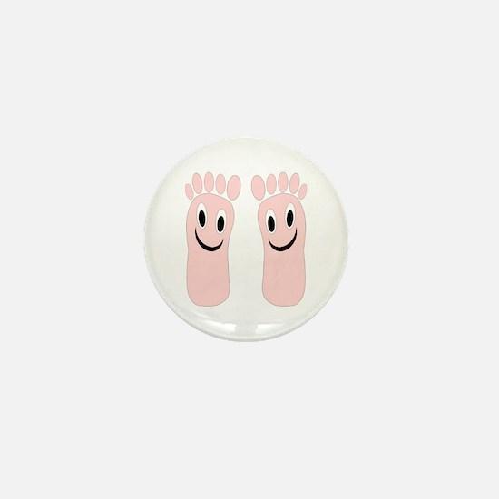 Smiling Feet Mini Button