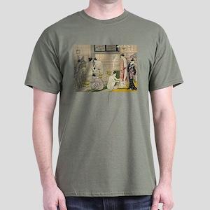 Torii Kiyonaga bathhouse women Dark T-Shirt