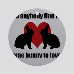 Some Bunny To Love 2 Ornament (Round)