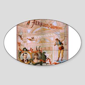 vaudeville Sticker (Oval)