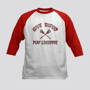 Give Blood Play Lacrosse Kids Baseball Jersey