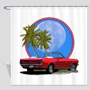 Mustang convertible Shower Curtain