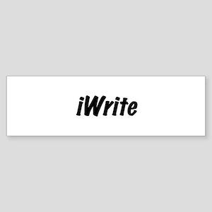 I write Bumper Sticker