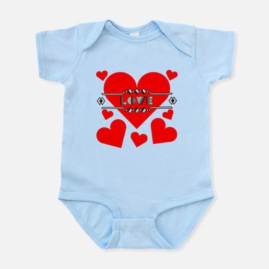 Deco Love Hearts Infant Bodysuit