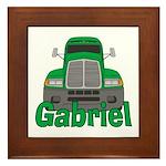 Trucker Gabriel Framed Tile