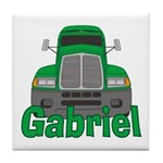 Trucker Gabriel Tile Coaster