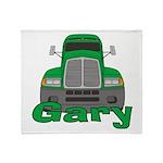 Trucker Gary Throw Blanket
