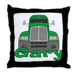 Trucker Gary Throw Pillow