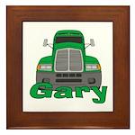 Trucker Gary Framed Tile