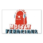 Mostly Ferocious Sticker (Rectangle)
