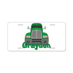 Trucker Grayden Aluminum License Plate