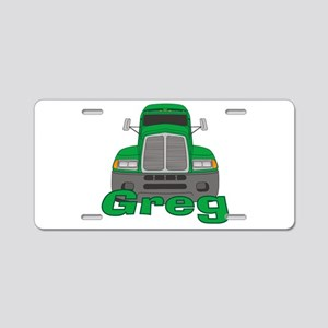 Trucker Greg Aluminum License Plate