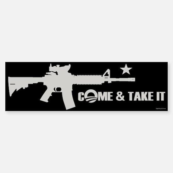Come & Take It - Obama Sticker (Bumper)