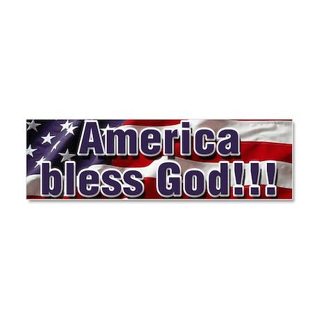 America Bless God Car Magnet 10 x 3
