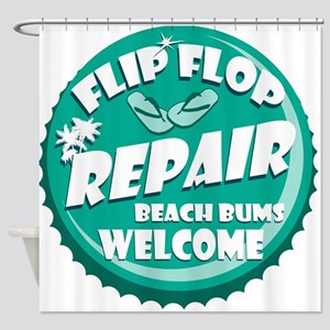 Flip Flop Repair Shower Curtain
