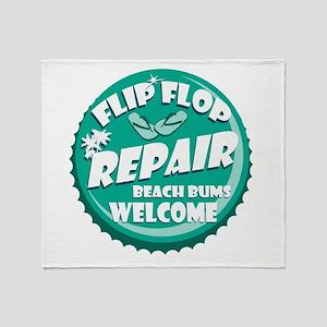 Flip Flop Repair Throw Blanket