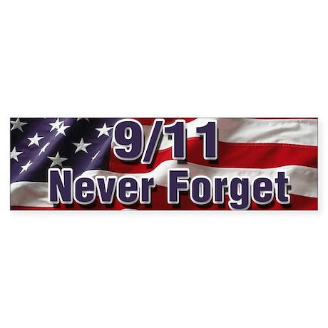 9/11 Never Forget Sticker (Bumper)