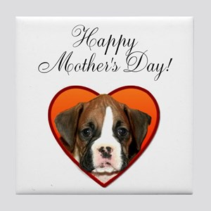 Happy Mother's Day Boxer Tile Coaster