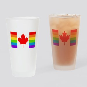 Canadian Pride Flag Drinking Glass