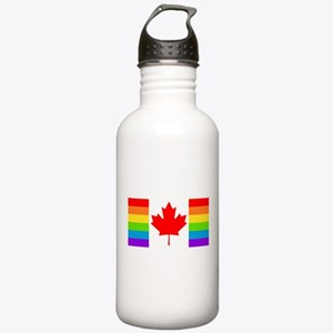 Canadian Pride Flag Stainless Water Bottle 1.0L