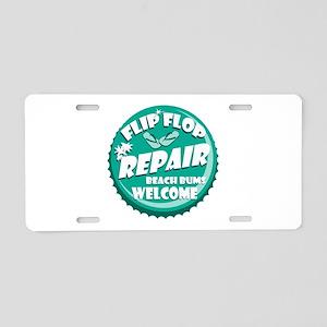 Flip Flop Repair Aluminum License Plate