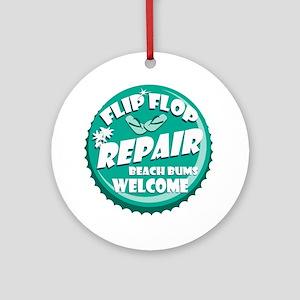 Flip Flop Repair Ornament (Round)