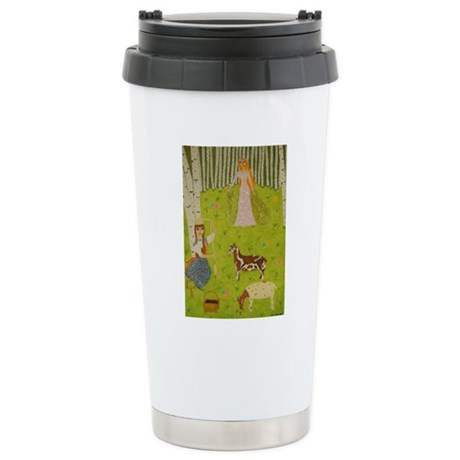 Wood Maiden Stainless Steel Travel Mug