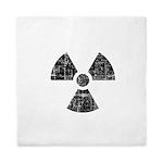 Vintage Radioactive Symbol 1 Queen Duvet