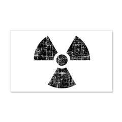 Vintage Radioactive Symbol 1 22x14 Wall Peel