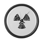 Vintage Radioactive Symbol 1 Large Wall Clock