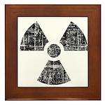 Vintage Radioactive Symbol 1 Framed Tile